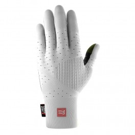 COMPRESSPORT 3D THERMO SEAMLESS RUNNING GLOVES WHITE