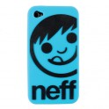 Neff Iphone 4 Case Corpo Cyan